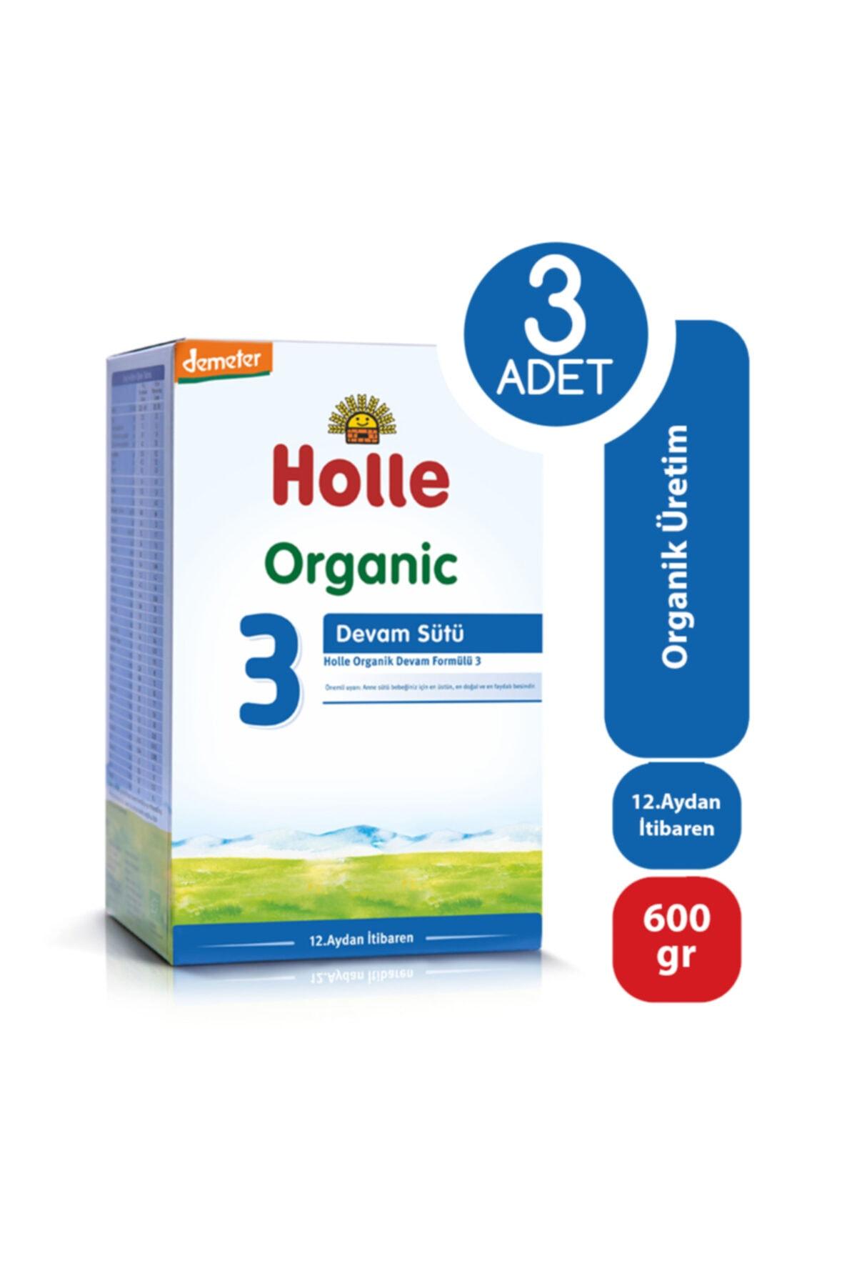 Holle Organik Devam Sütü 3 600 Gr - 3'lü Paket 1