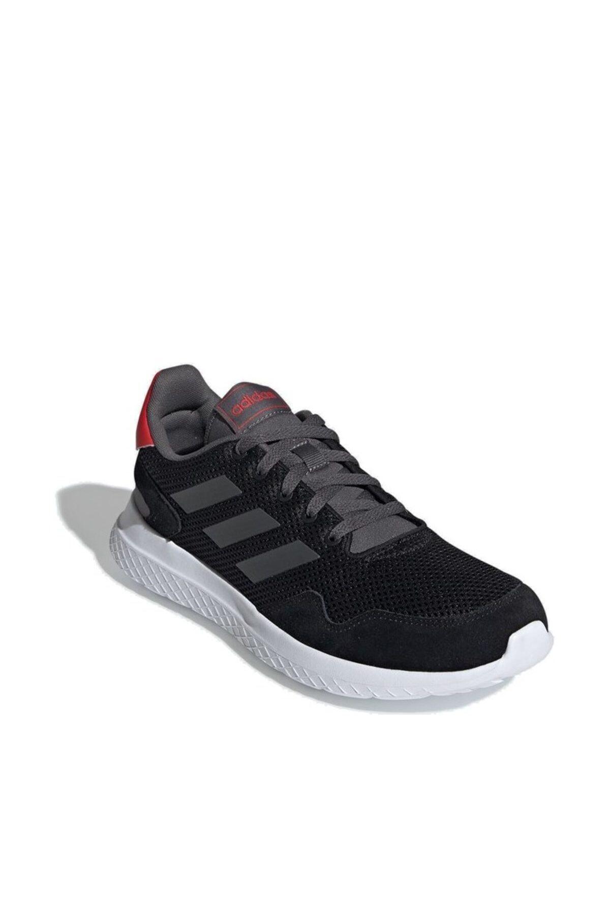 adidas Erkek Siyah Bağcıklı Koşu Ayakkabısı 2