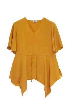 Journey Kadın Sarı Beli Bağcıklı Bluz