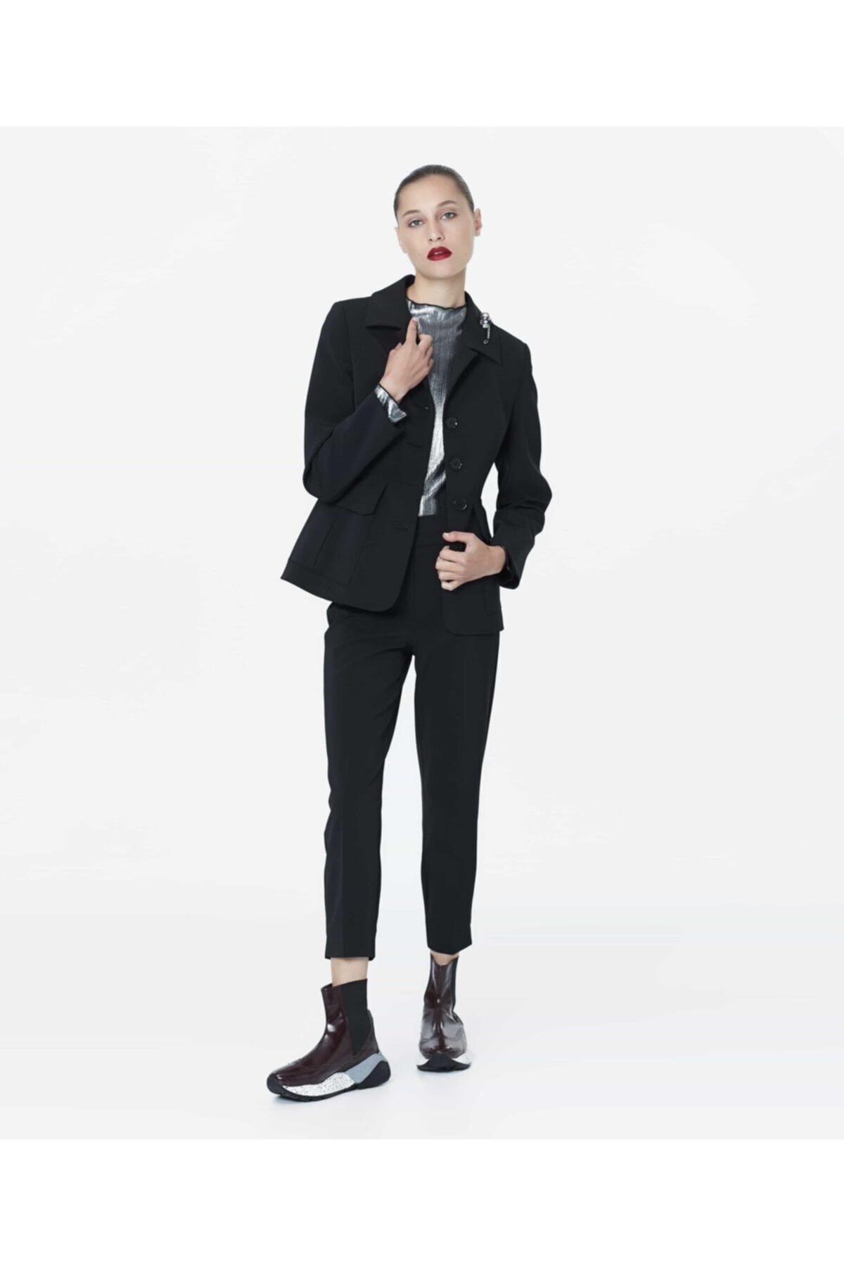 İpekyol Kadın Siyah Bel Vurgulu Ceket 2