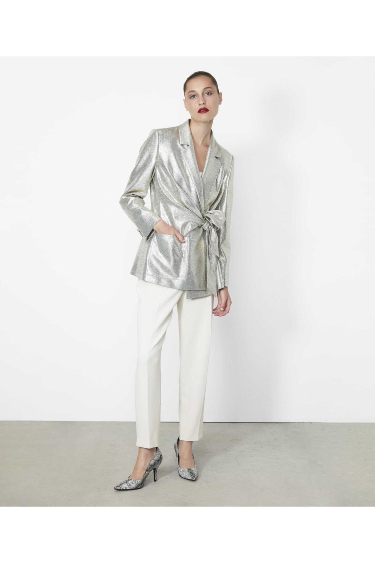 İpekyol Kadın Gümüş Anvelop Kapama Detaylı Ceket 1