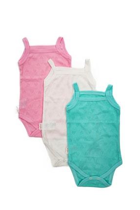 Mai Perla Kız Bebek Renkli 3 Adet Askılı Body