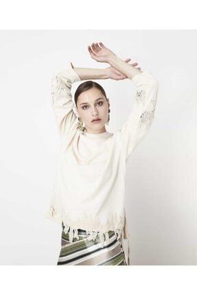İpekyol Kadın Yağ Güpür Mixli Sweatshirt