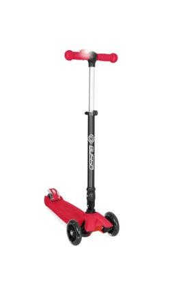 BUSSO Katlanabilir Led Işıklı Mini Scooter - Kırmızı S918a
