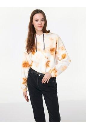 Twist Kadın Krem Batik Sweatshirt
