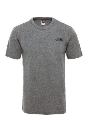 THE NORTH FACE Erkek Gri Sımple Dome T-shirt