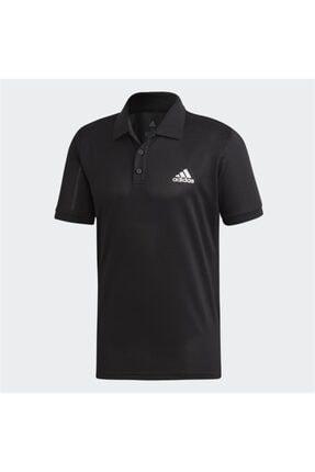 adidas Erkek Siyah Polo Yaka Spor T-shirt