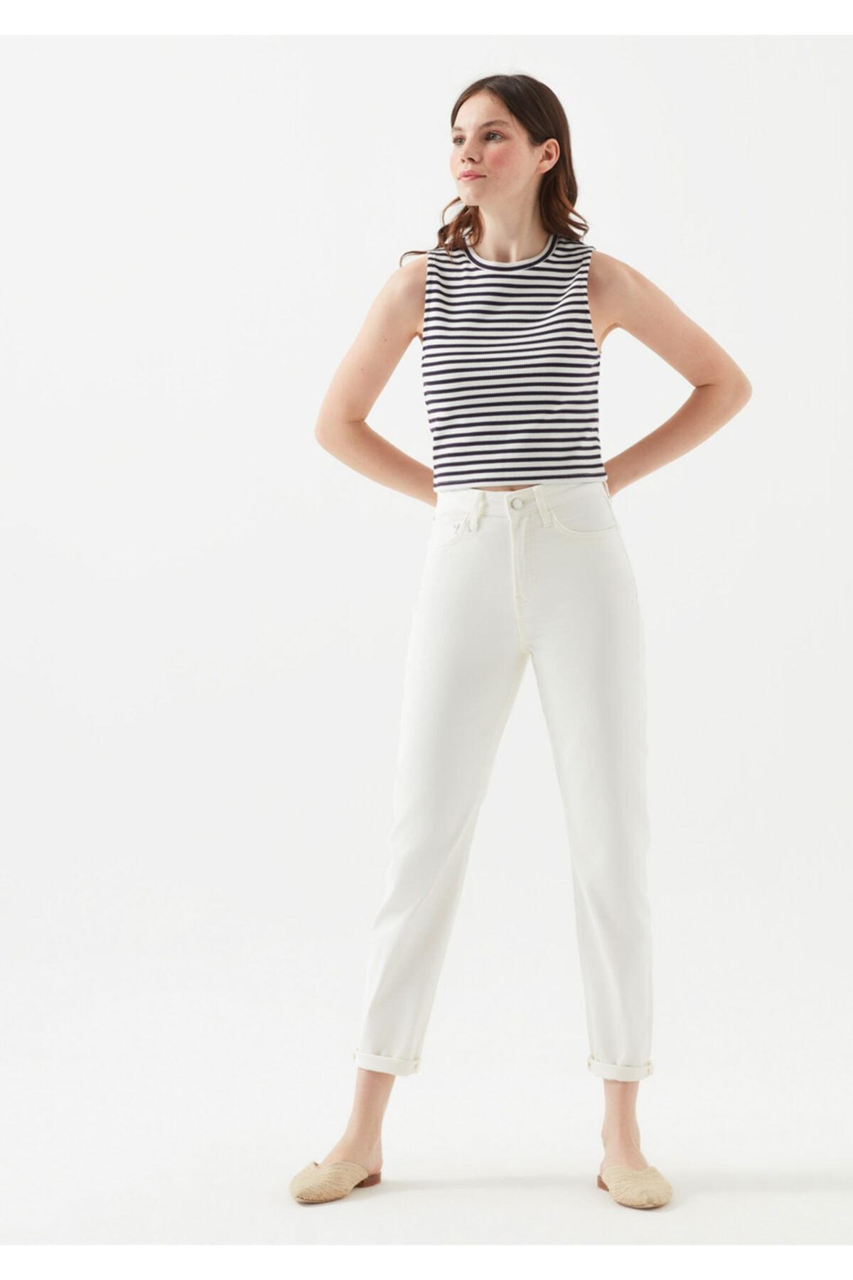 Mavi Star Gold Icon Beyaz Jean Pantolon 2
