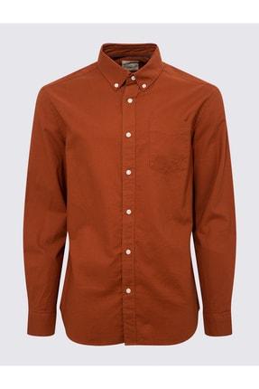 Marks & Spencer Erkek Turuncu Saf Pamuklu Oxford Gömlek T25003900M