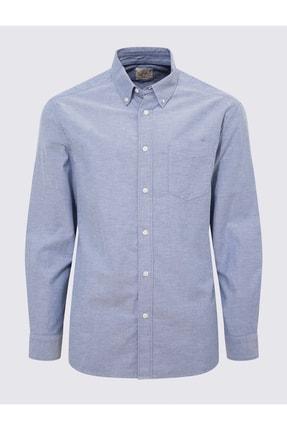 Marks & Spencer Erkek Mavi Saf Pamuklu Oxford Gömlek T25003900M