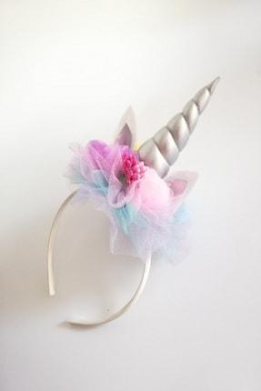 Toka Perisi Çiçekli Unicorn Taç / Unicorn Doğum Günü Tacı