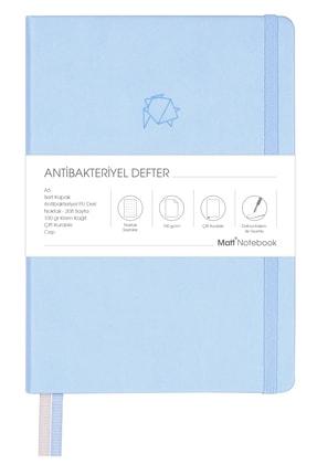 Matt Notebook A5 Antibakteriyel Defter Noktalı Mavi