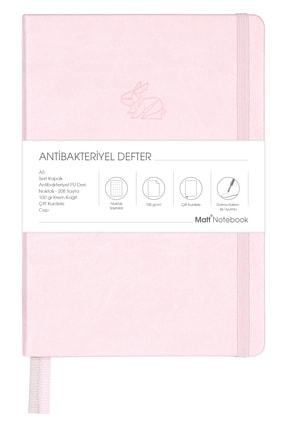Matt Notebook A5 Antibakteriyel Defter Noktalı Pembe