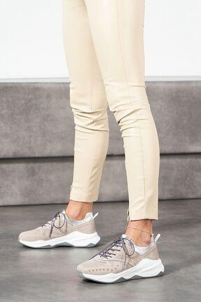 Louis Cardy Nixus Gri Nubuk Hakiki Deri Kadın Sneakers