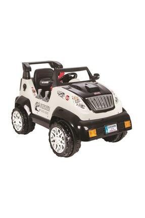 PİLSAN Beyaz Fantastik Uzaktan Kumandalı Akülü Araba 12volt Akülü Jeep