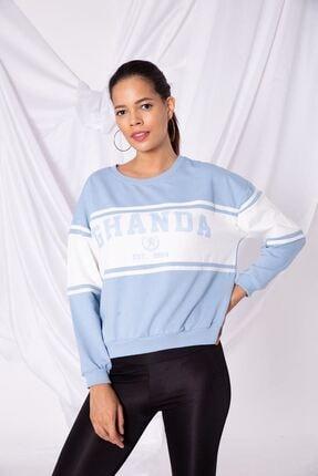 Zafoni Kadın Mavi Sweatshirt