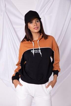 Zafoni Kadın Kahverengi Sweatshirt
