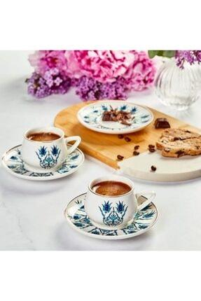 Karaca İznik Yeni Form 6 Kişilik Kahve Fincanı Seti