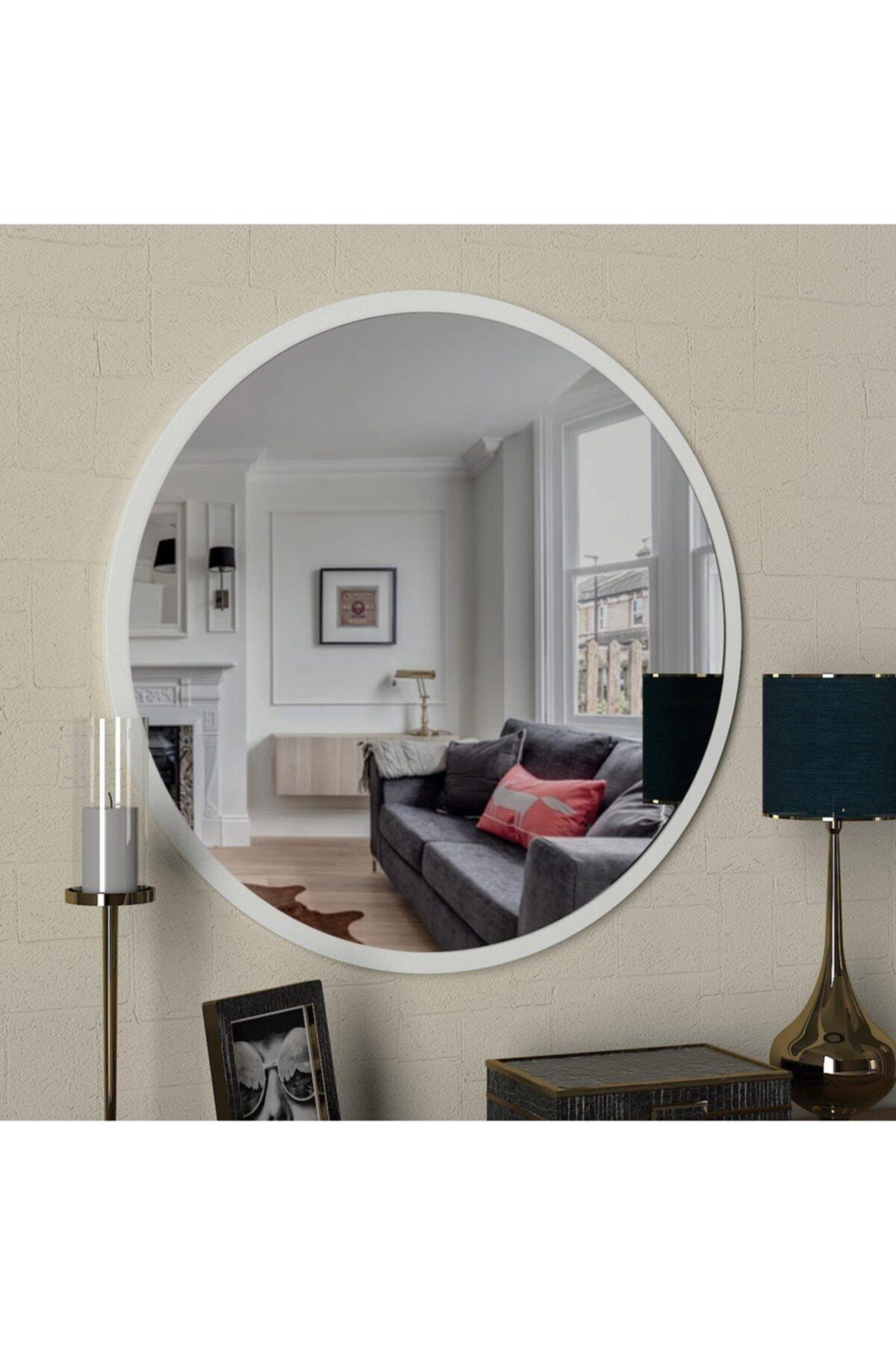 Dekorister Beyaz Exclusive Glob Ayna 1