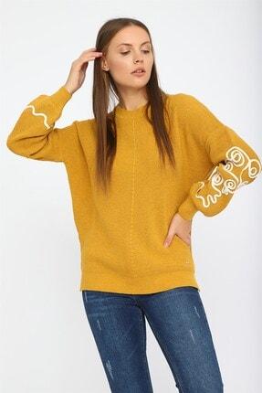 Chima Kadın Sarı Suzineli Kazak K20TR709