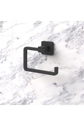 Teknotel Ömür Boyu Paslanmaz Tuvalet Kağıtlık Mat Siyah Mg394