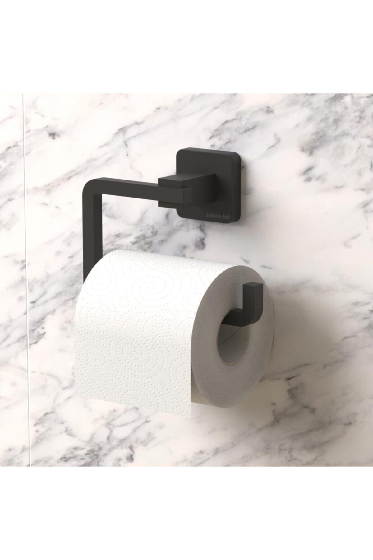 Teknotel Ömür Boyu Paslanmaz Tuvalet Kağıtlık Mat Siyah Mg394 2