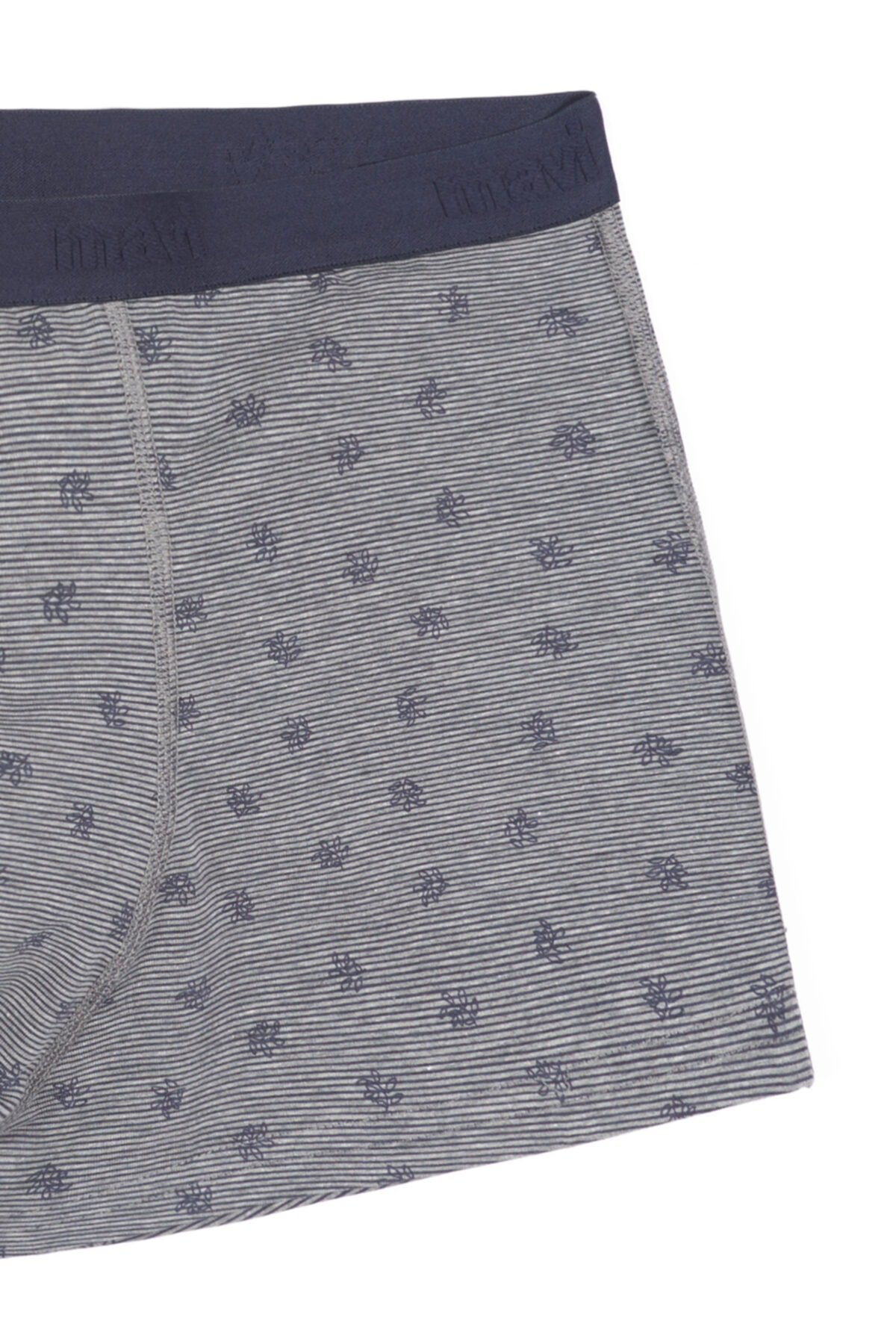 Mavi Erkek Gri Çiçek Desenli Boxer 092077-30710 2
