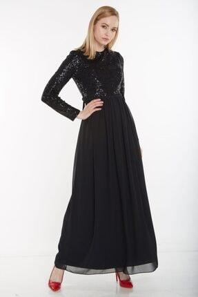 Puane Kadın Siyah Elbise 12041-01