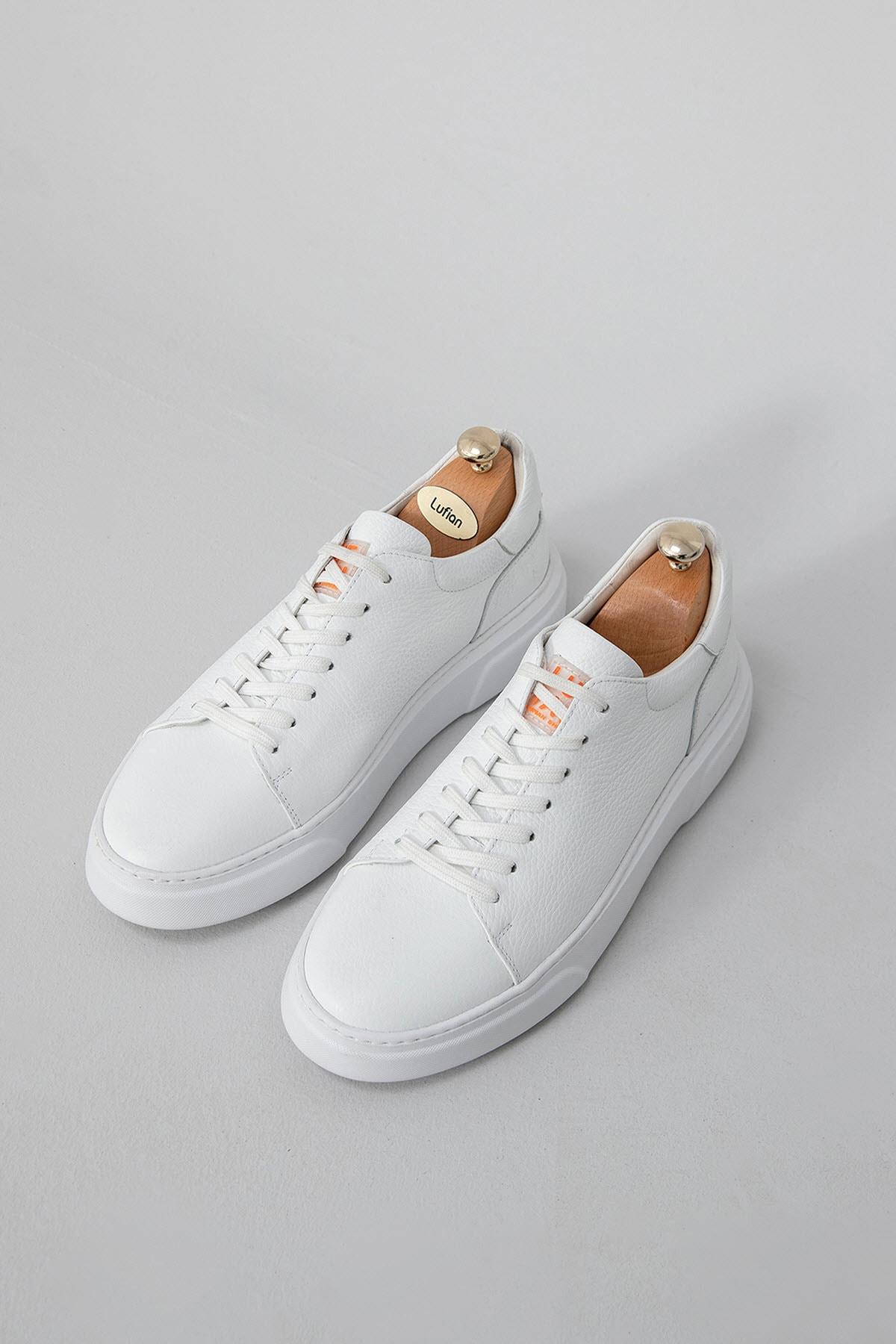 Lufian Tommy Deri Sneaker Beyaz 1