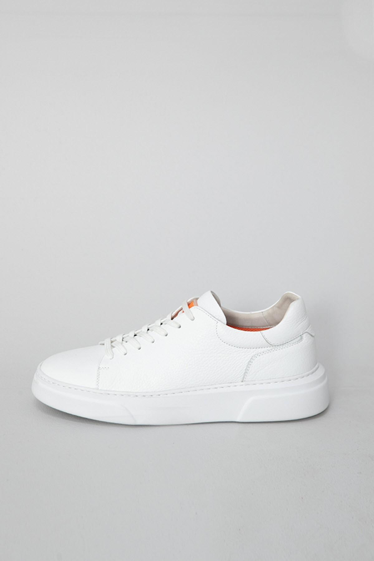 Lufian Tommy Deri Sneaker Beyaz 2