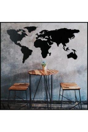 Moda Bodrum Dekoratif Dünya Haritası - 60x140 - Mdf Duvar - 3mm-siyah