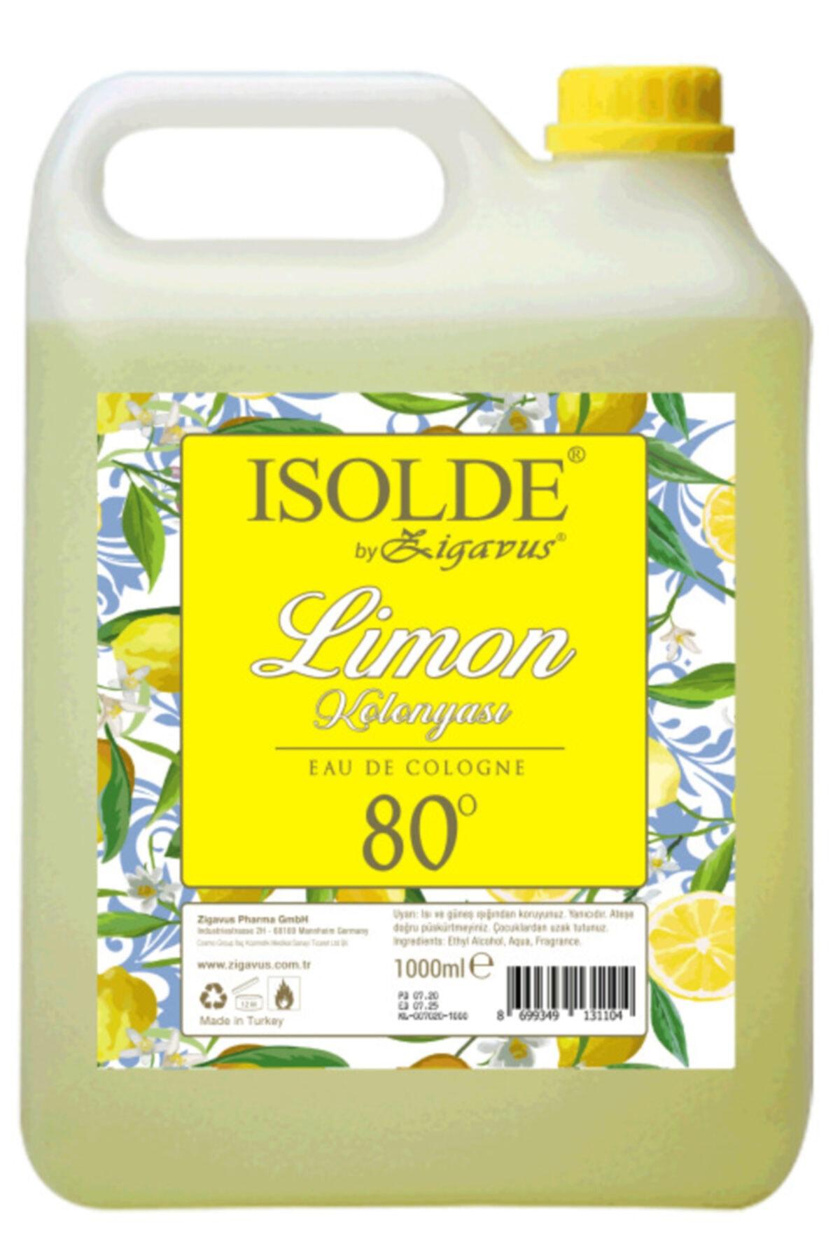 Zigavus Isolde 1 Litre 80 Derece Limon Kolonyası 1
