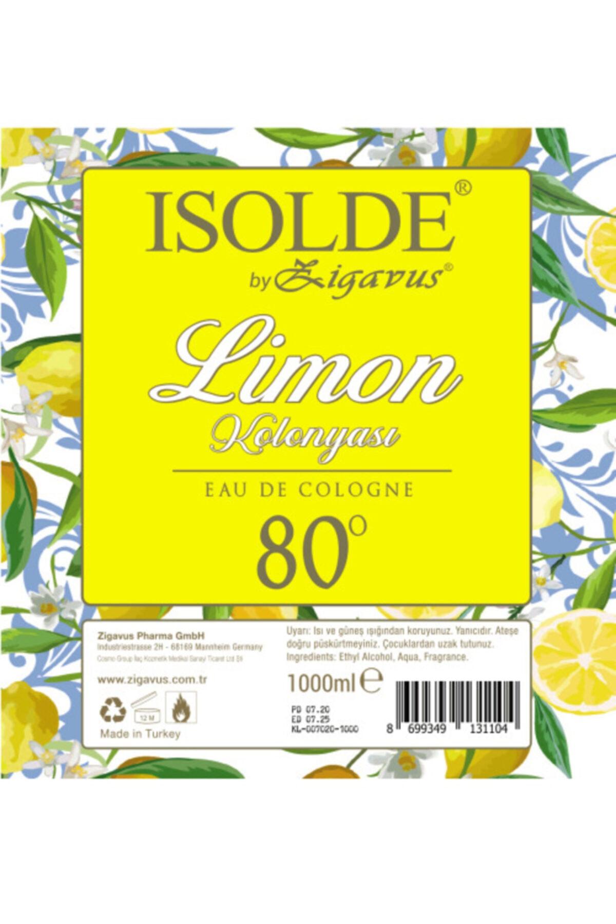 Zigavus Isolde 1 Litre 80 Derece Limon Kolonyası 2