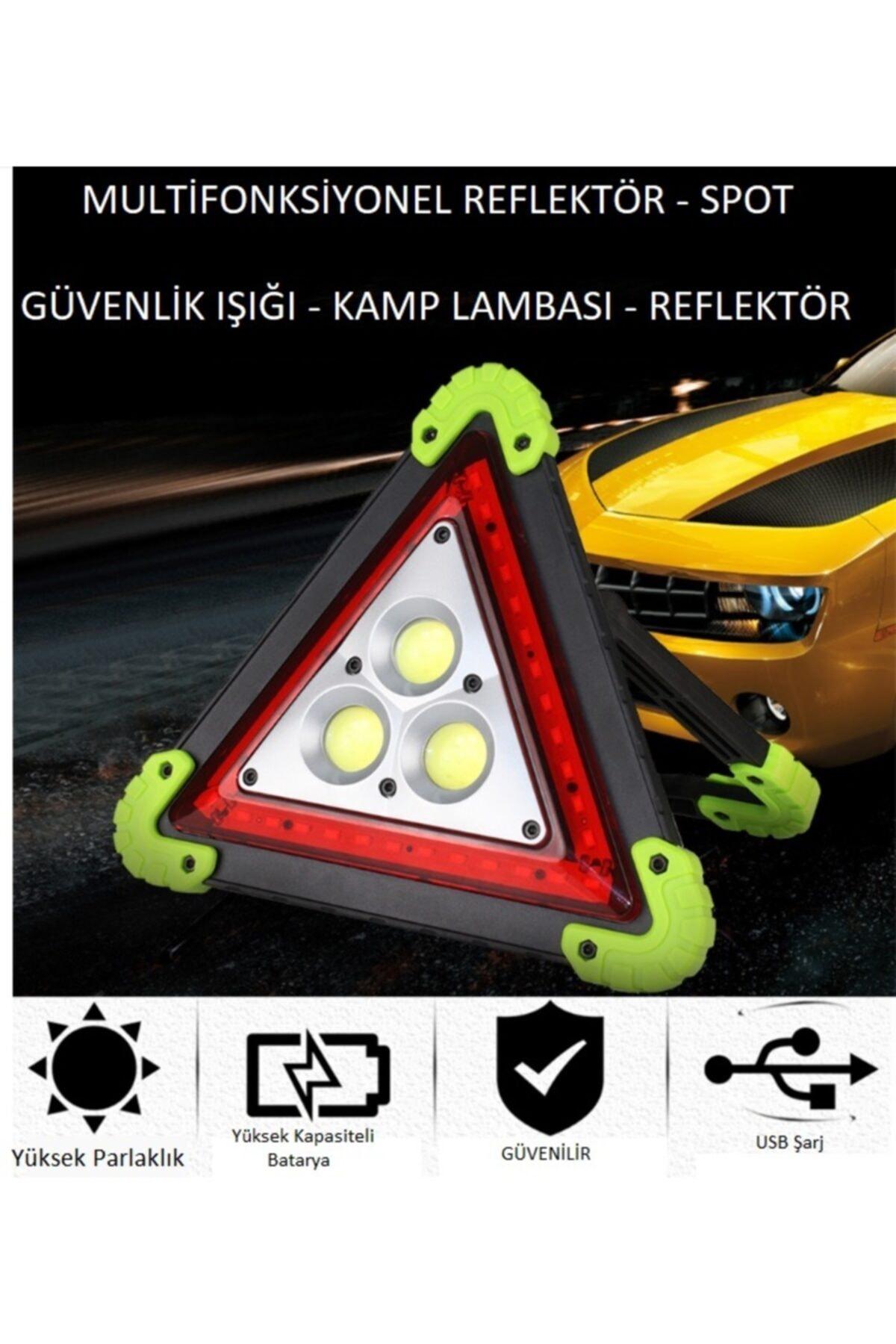 Go İthalat Reflektör 3 Ledli Güneş Enerjili - Kamp Feneri - Işıldak - Powerbank 1