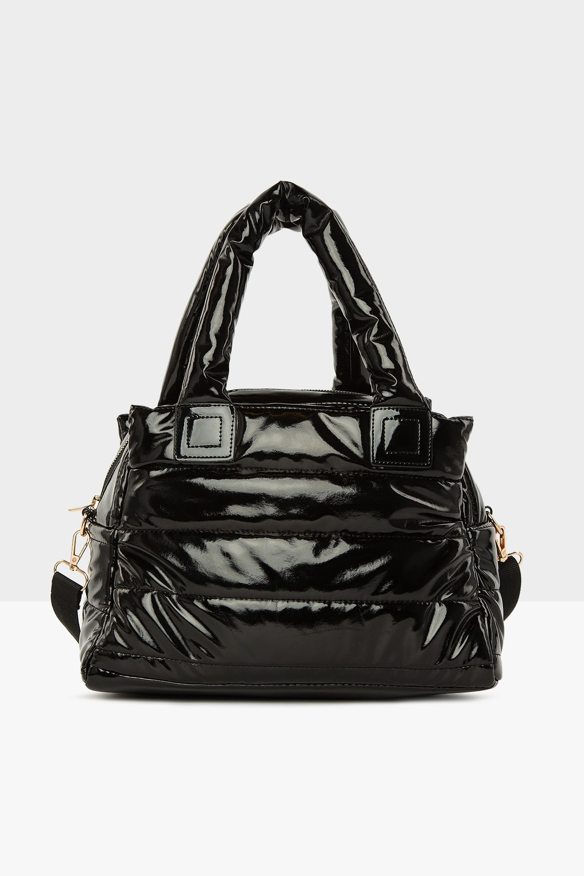 Bagmori Rugan Siyah Kadın Üç Bölmeli Şişme Çanta M000005141