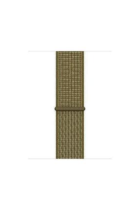 Apple Watch Seri 2/3/4/5/6 44mm Hasır Kordon/kayış Olive Flak