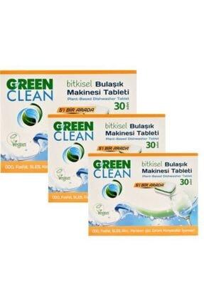 Green Clean Bulaşık Makinesi Organik Bitkisel Tablet 30 Adet x 3 Adet