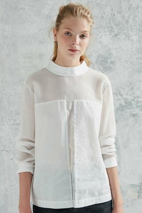 Yargıcı Kadın Kırık Beyaz Panel Detaylı Gömlek 0KKGM6047X