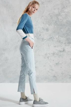 Yargıcı Kadın Bej Desenli Nervür Detaylı Pantolon 0KKPN3011X