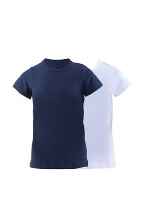 Blackspade Erkek Çocuk Lacivert-beyaz 2'li Paket Fanila T-shirt