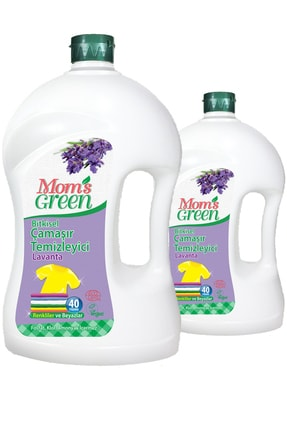 Mom's Green 2'li Set Bitkisel Çamaşır Deterjanı 2 Lt - Lavanta