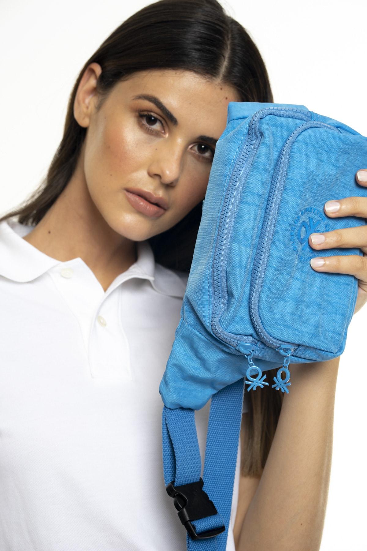 United Colors of Benetton Kadın Mavi Bel Çantası Mavi Bnt231 1