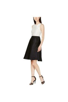Permio Kadın Bej Colorblock Çivili Resmi Parti Elbisesi