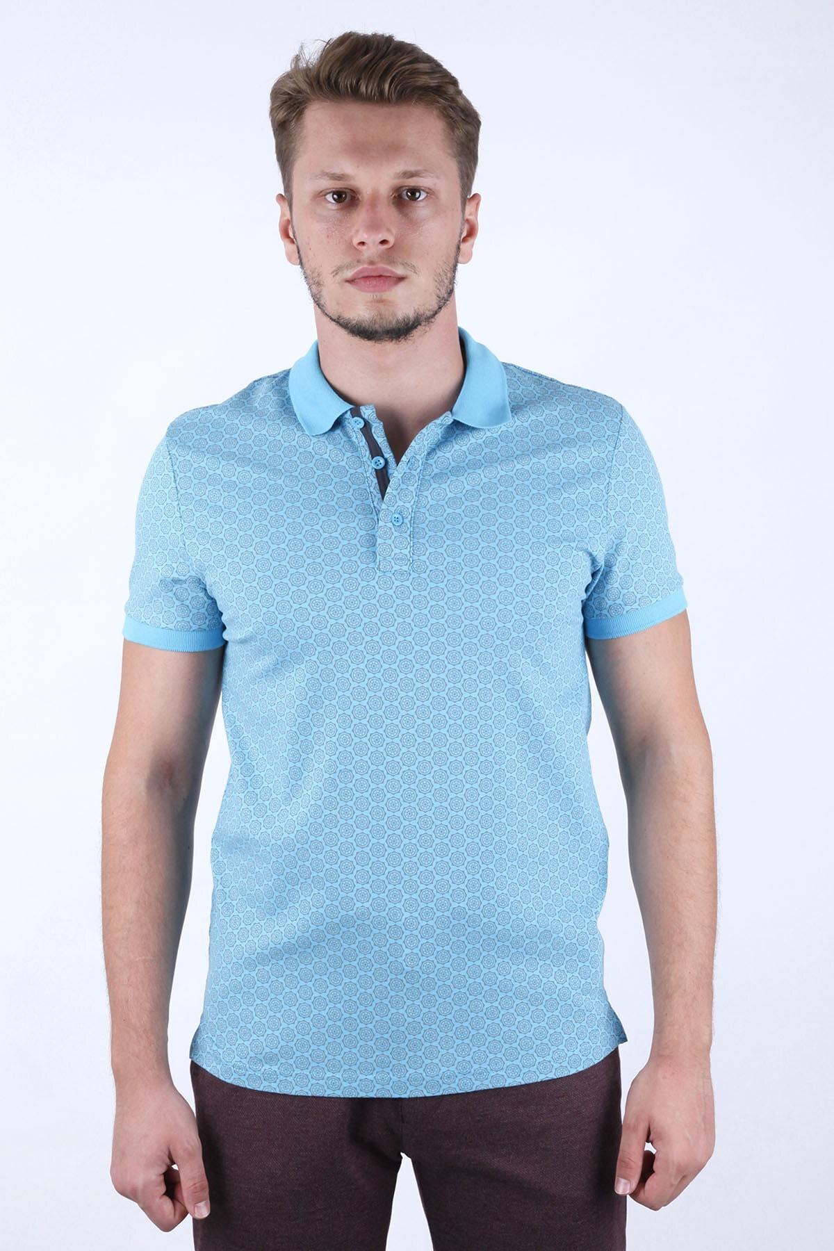 Canelia Erkek  Açık Mavi Slim Fit T-shirt 1