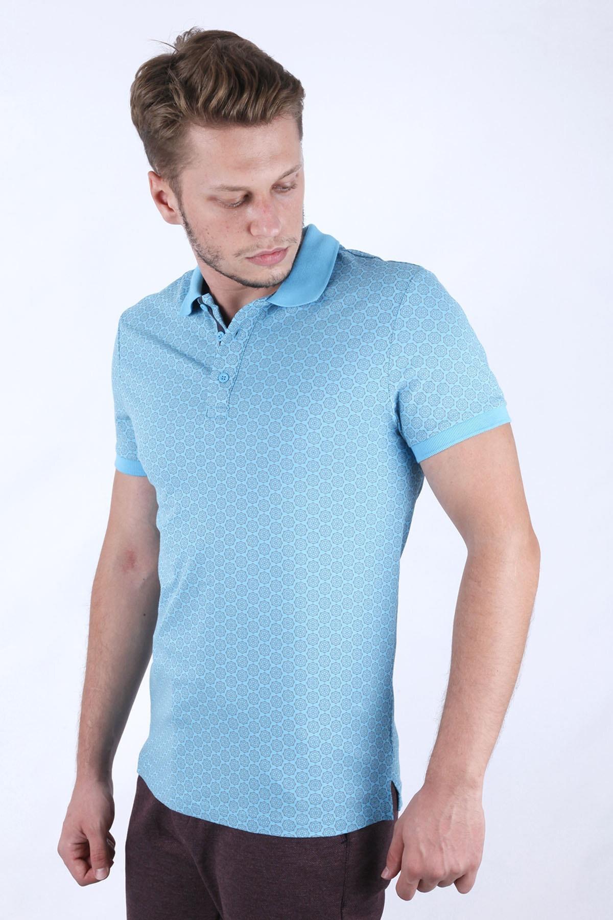 Canelia Erkek  Açık Mavi Slim Fit T-shirt 2
