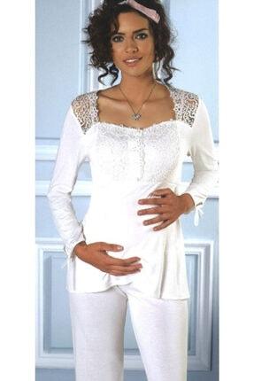 Pierre Cardin Kadın Pudra Uzun Kol Lohusa Pijama Takımı 1240