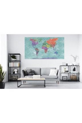 Woody Shoping Dünya Haritası Folyo Duvar Kağıdı