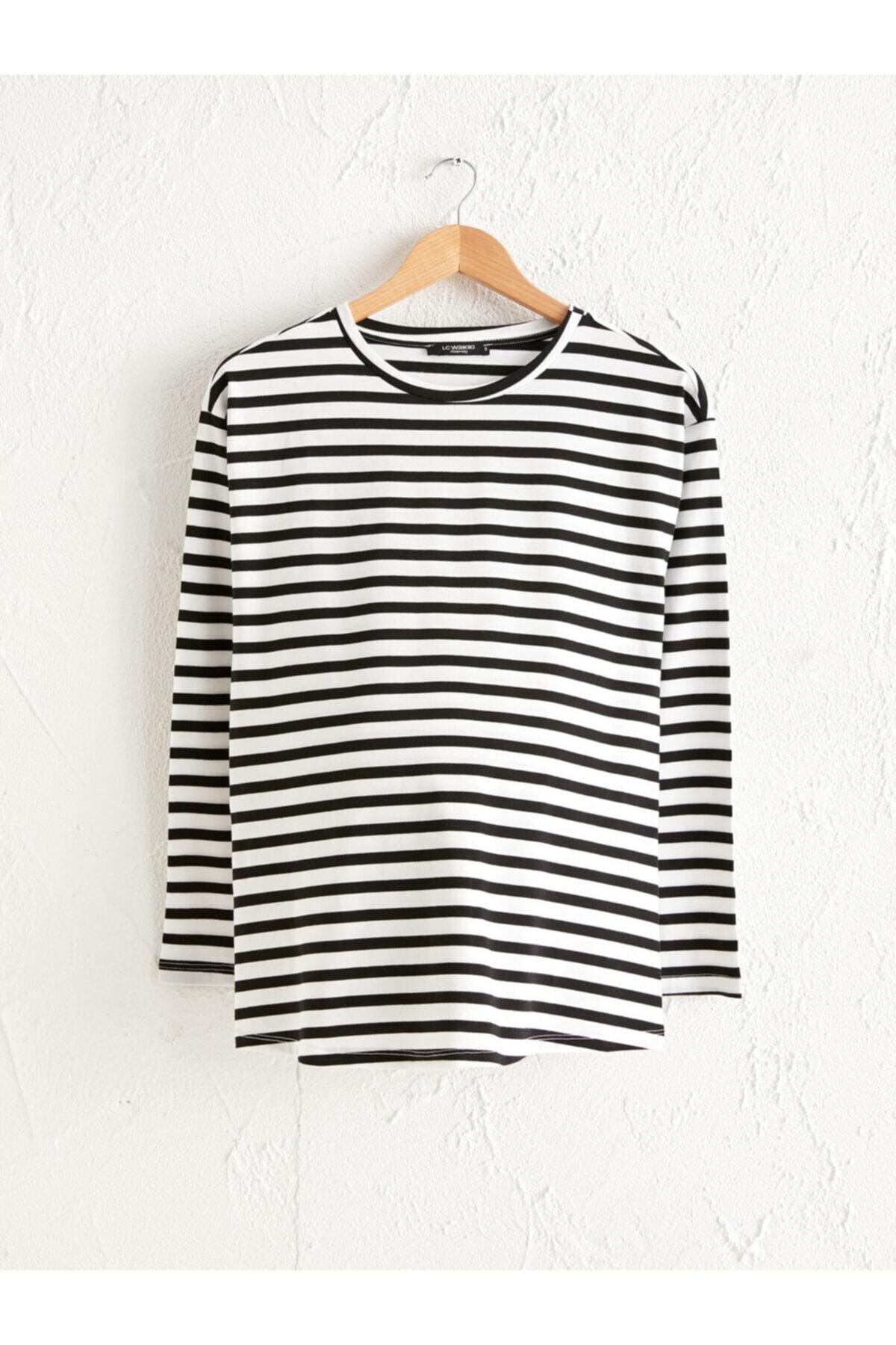 LC Waikiki Kadın Siyah T-Shirt 1