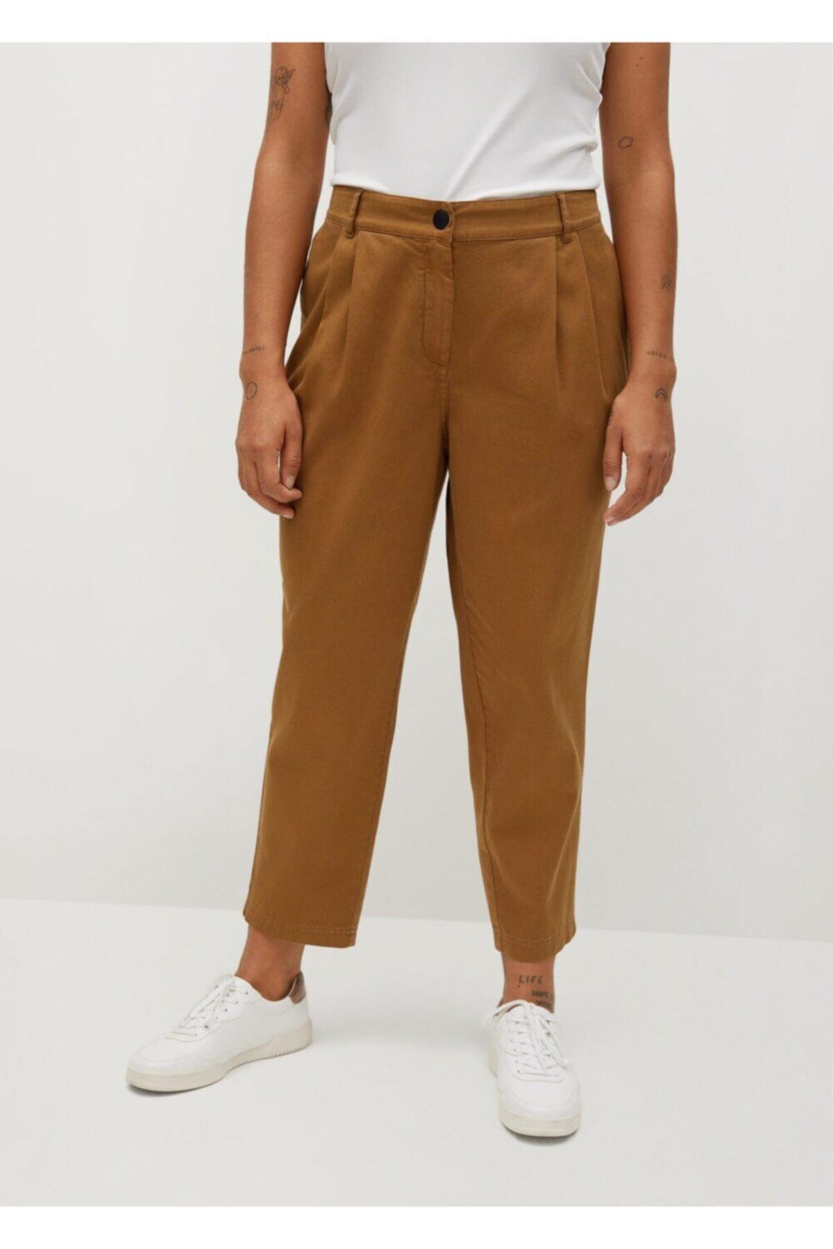 Violeta by MANGO Kadın Kahverengi Pantolon 2
