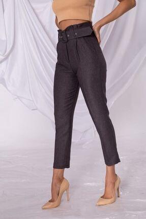 Zafoni Kadın Füme Kumaş Pantolon